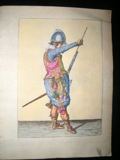 Jacob de Gheyn 1608 Fine Hand Coloured Musketeer Print 24 | Albion Prints